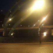 りんくう公園四季の泉のライトアップ