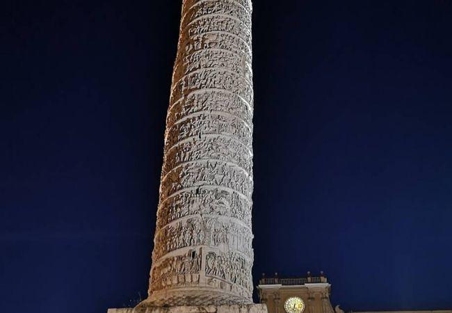 柱の周囲の模様