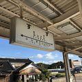 昔は鉄道の駅、今は観光バスが止まります。