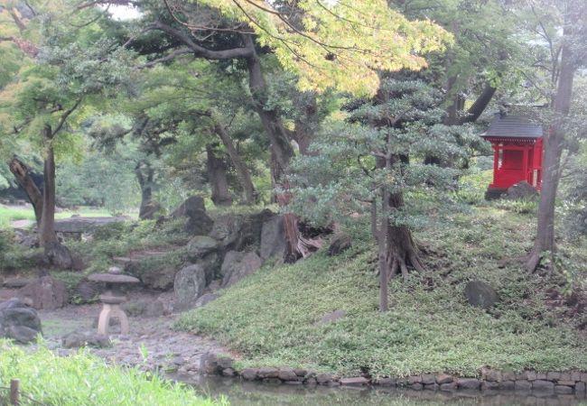 小石川後楽園 蓮莢島