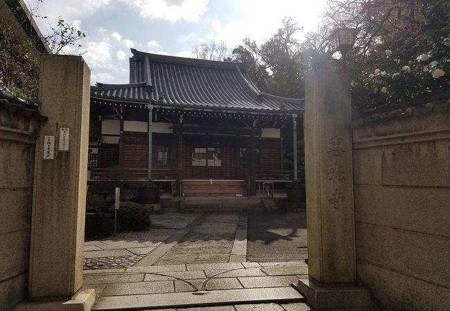 歌川豊広のお墓がある