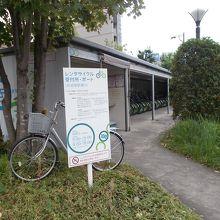 岐阜駅南口にあるレンタサイクルポート