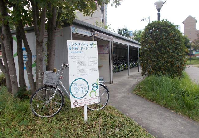 受付にある自転車散策マップが便利