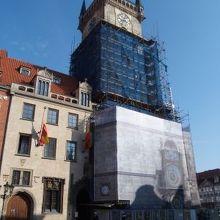 プラハ旧市庁舎の塔