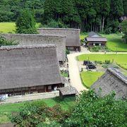 五箇山の世界遺産の合掌造り集落