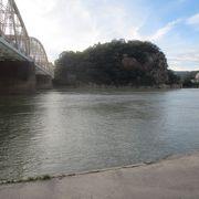 城山と鉄橋の景色が好き