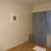 珍しい柄付きの壁紙です、女性向き部屋。