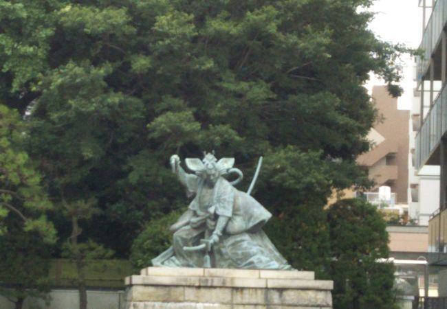 九代目市川團十郎の暫(鎌倉権五郎)像