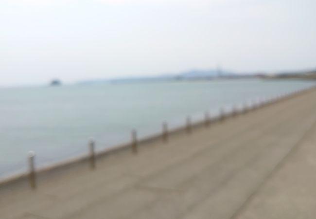 海沿いに広がる公園の展望台