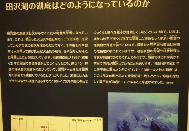田沢湖の歴史と成因をも展示、里帰り迄あと一歩のクニマスも。