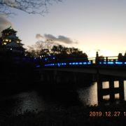 イルミネーションがきれいな極楽橋と天守閣を楽しみました