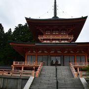 延暦寺、東塔伽藍の中心