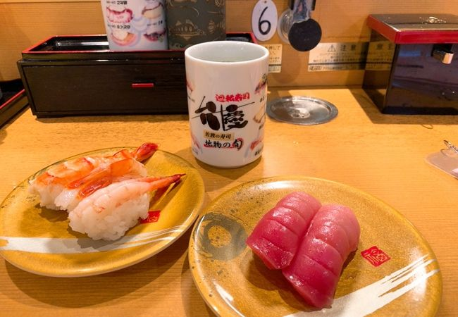 新鮮なネタを楽しめる、回転寿司! 食事時よりちょっと早めに行ったほうが良いです!