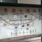 旧東海道近くの七福神