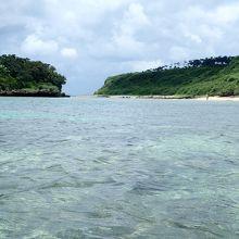沖合から浜方面です。