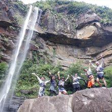 西表島にある滝とは思えない迫力です。
