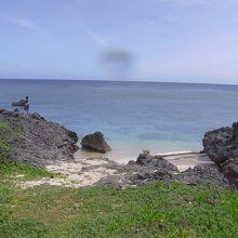 外若浜到着です。 やはり砂浜はこれだけです。