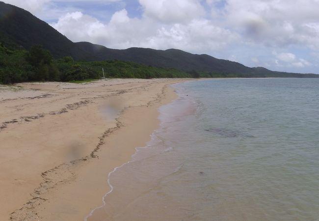 西表島最南部の浜です。