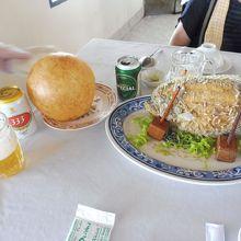 エレファントフィッシュと風船餅の昼食