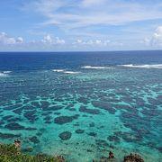 きれいな海の色が広がる絶景が見られました