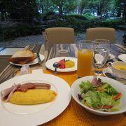 朝食も静かにいただけます