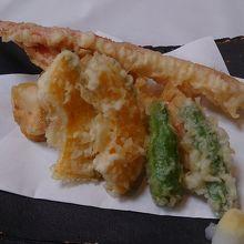 夕食の天ぷら