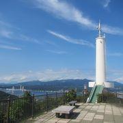 パノラマ素晴らしい標高200mの山頂展望台