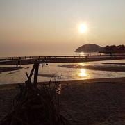 夕陽の美しい海岸