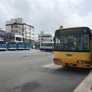 石垣のバス始発基地は、離島ターミナル前
