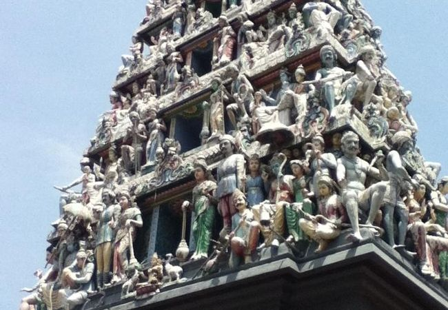 チャイナタウンのヒンドゥー教寺院
