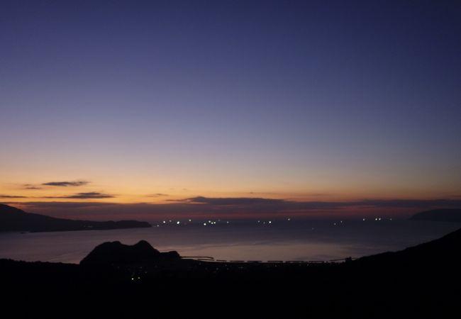 敦賀湾の夕景