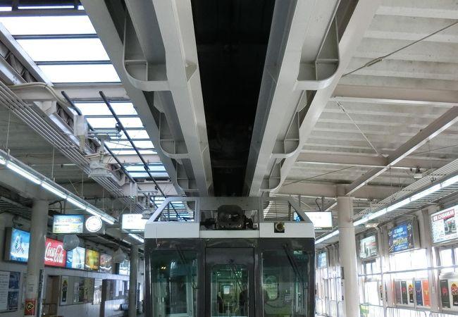 日本では珍しい懸垂式のモノレール