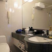 バスルームはクラシックデザインですが、バスアメニティは十分