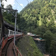 欅平駅にて