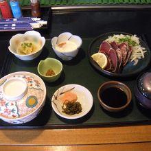 刺身定食梅税抜1000円