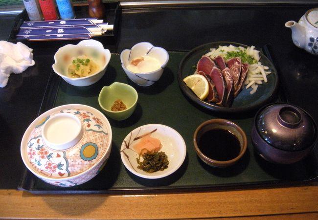 枕崎駅前のかつおも食べられる和食店