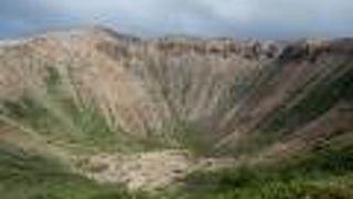 火山地帯の独特の風景