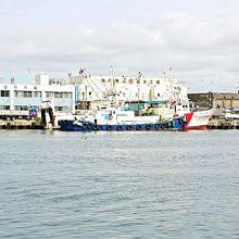 副港市場前の海