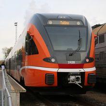 Elronの車両(ナルヴァ駅にて)