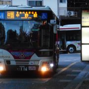 住宅街に小まめに停留所がある路線バスでした。