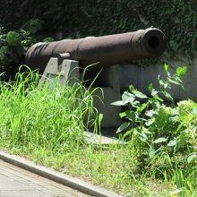 旧居留地90番地の大砲