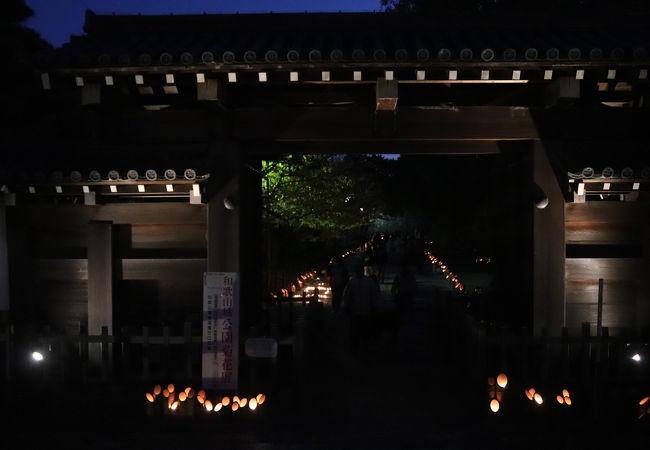 まちなかキャンドルイルミネーション 竹燈夜