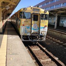 釧路駅にて