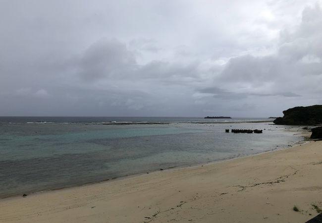 島の北側にあるビーチです