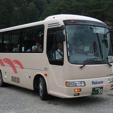 展望台行きシャトルバス (白山タクシー)