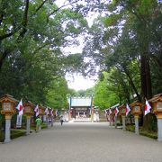 Grand shrine in a quiet atmosphere
