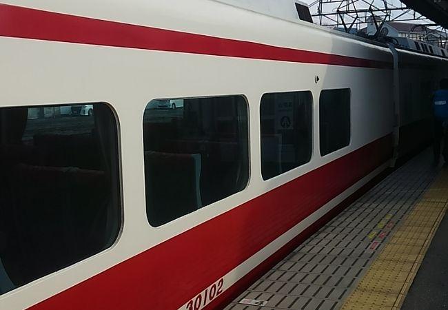 高野山のふもとまで行く特急電車
