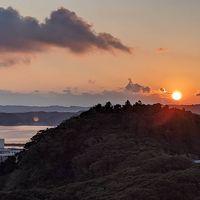 夕陽が沈んで行くわ(*^^*)