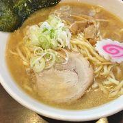 シコシコ、モチモチの太麺が美味しい