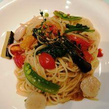 7種野菜とホタテのペペロンチーノ(単品) ¥1408